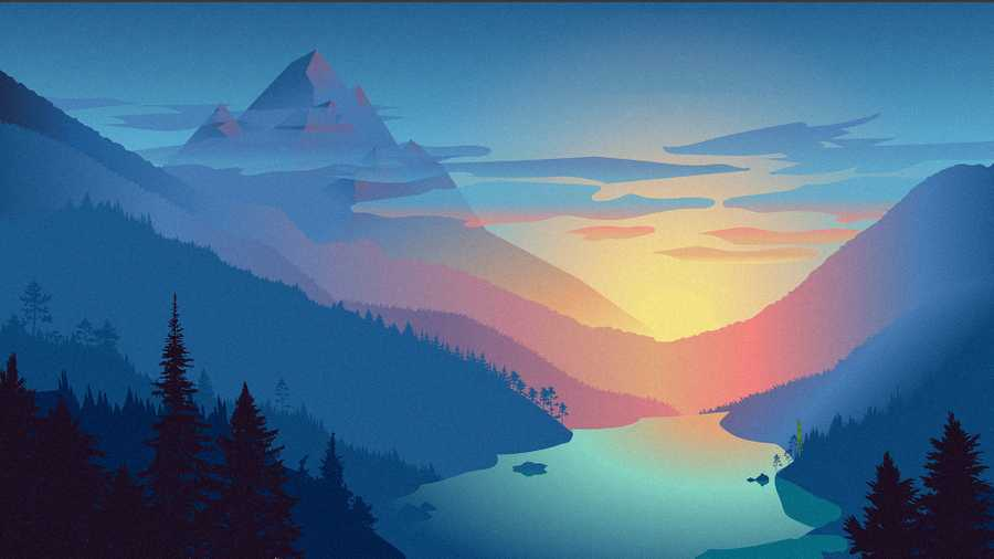 Procedurally Generated SVG Landscapes
