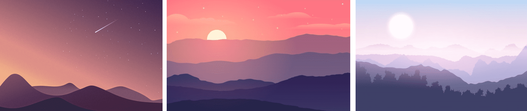 Procedurally Generated Svg Landscapes Kevinverse